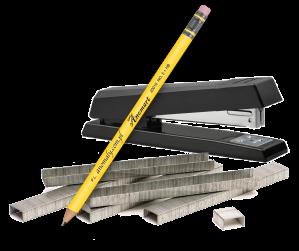 Stapler & pencil